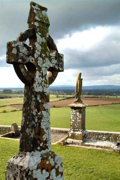 Celtic Cross, also known as High Cross, in Ireland