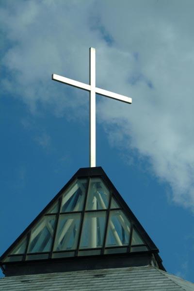 Cross and Church Steeple